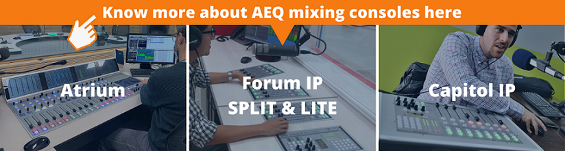 Know more about AEQ mixing consoles here