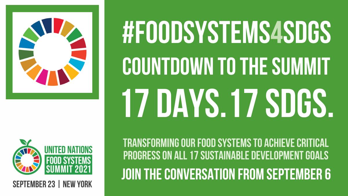 Summit #FoodSystems4SDGs countdown